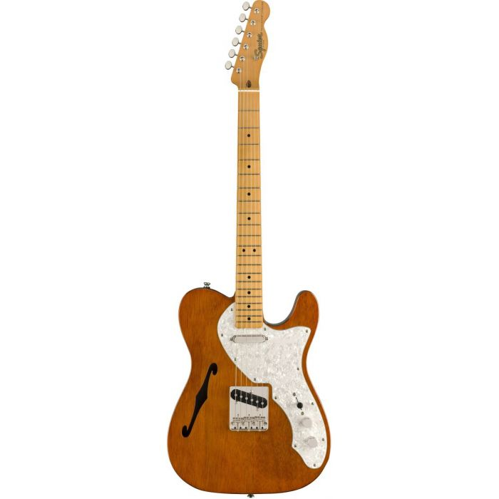 Full frontal view of a Squier Classic Vibe 60s Telecaster Thinline MN Natural