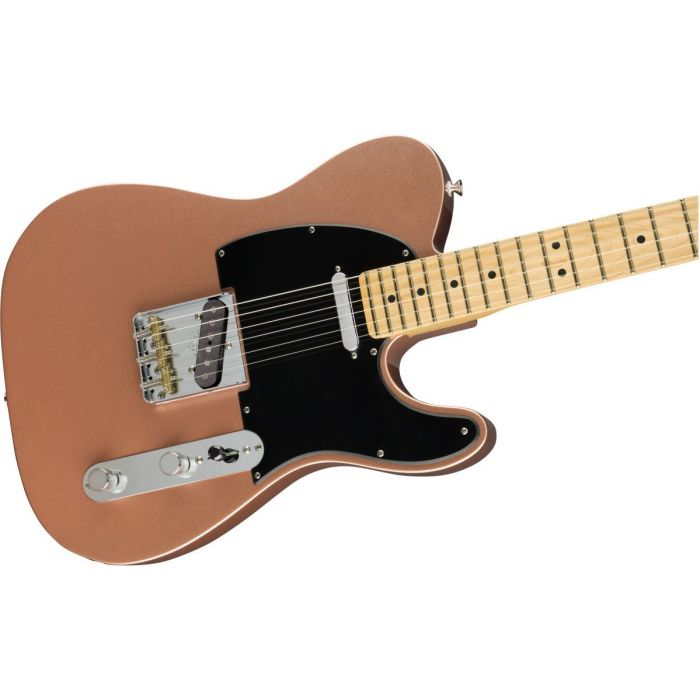 Front angled view of a Fender American Performer Telecaster MN Penny