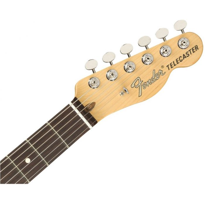 Front view of the headstock on a Fender American Performer Telecaster RW Honey Burst