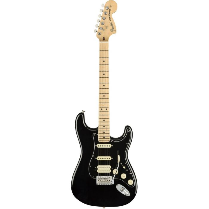 Full frontal view of a Fender American Performer Stratocaster HSS MN Black