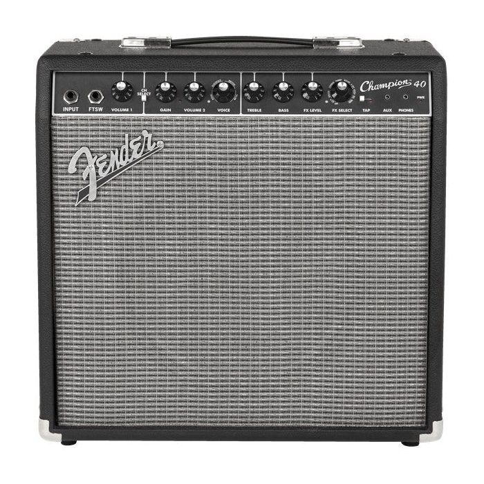 Full frontal view of a Fender Champion 40 Guitar Amplifier Combo