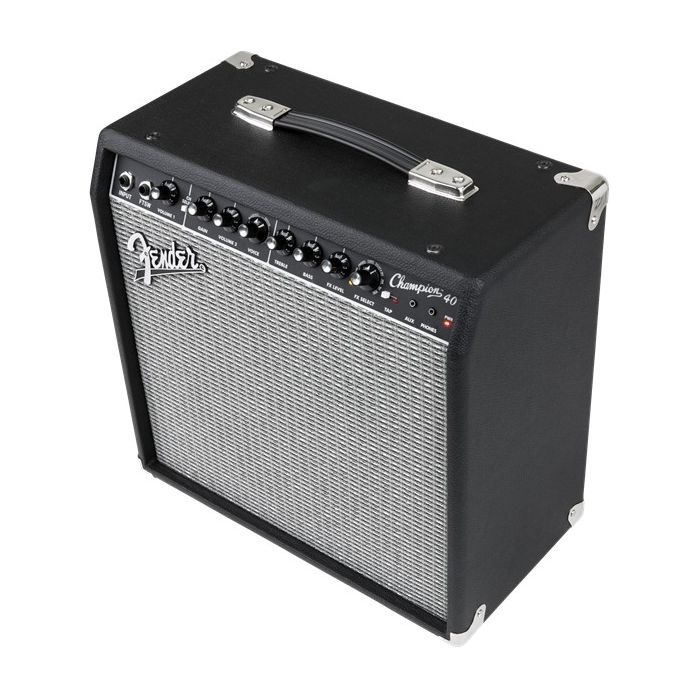 Front angled view of a Fender Champion 40 Guitar Amplifier Combo