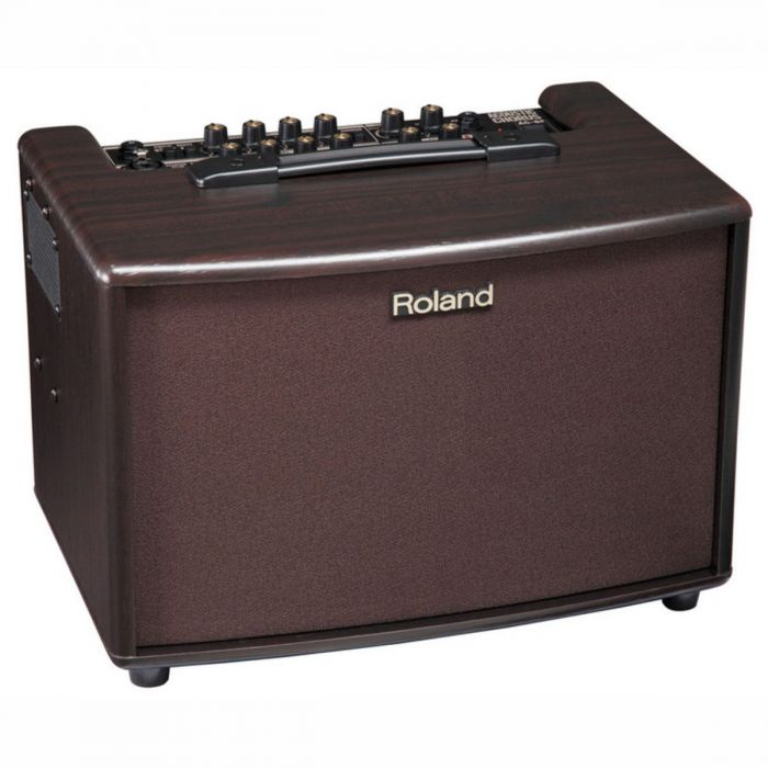 Full view of a Roland AC60 60 Watt Rosewood Acoustic AMP
