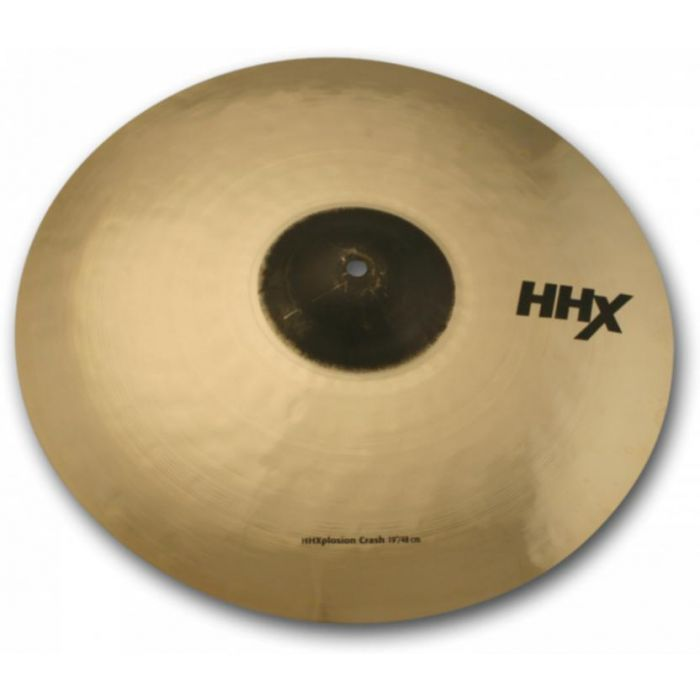 "Full view of a Sabian HHX 19"" X-Plosion Crash Cymbal"