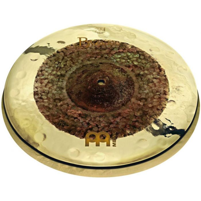 """Full view of a set of Meinl Byzance Extra Dry 15"""" Dual Hi-Hats"""
