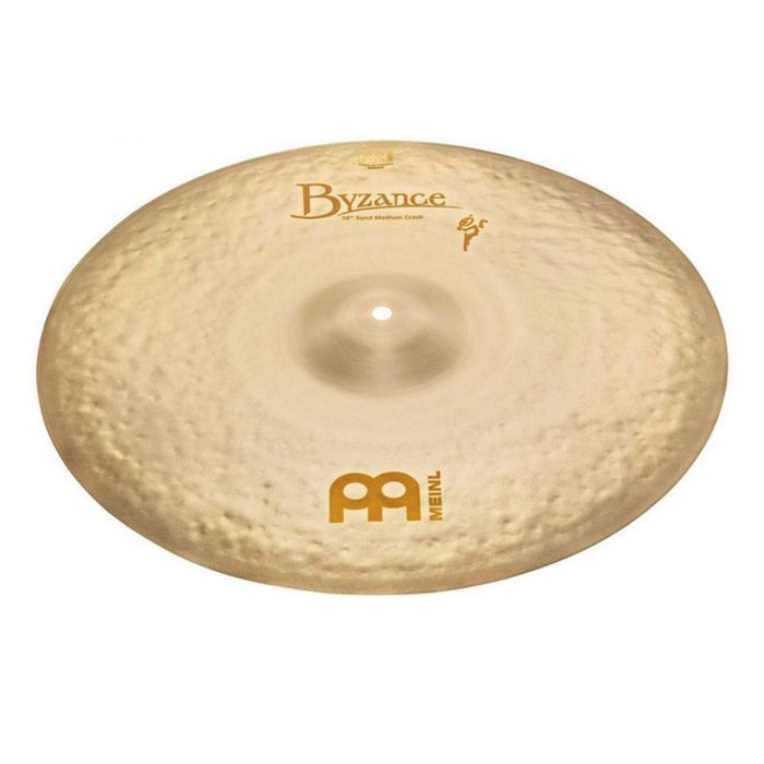 Full view of a Meinl Byzance Vintage 18 inch Medium Sand Crash Cymbal