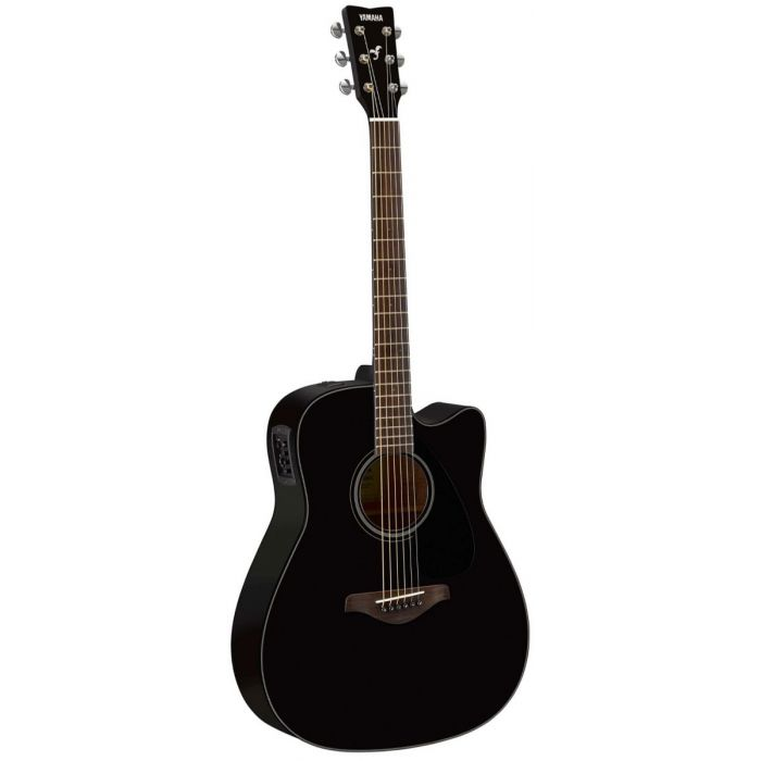 Full front view of a Yamaha FGX800C Acoustic in Black
