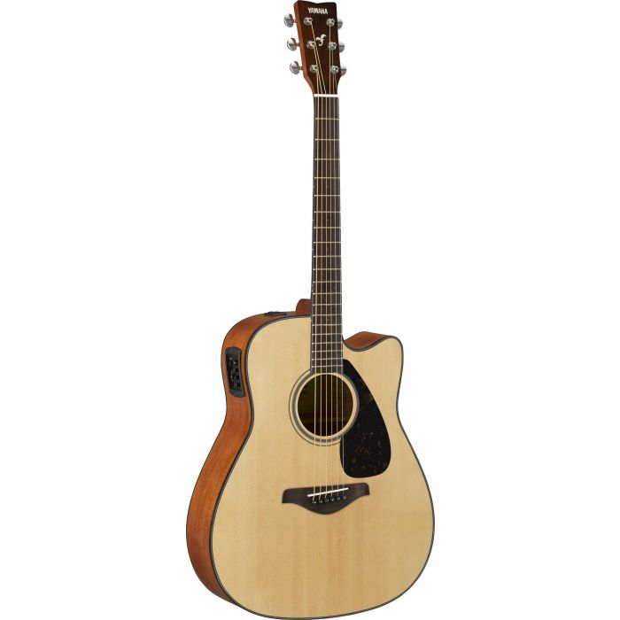 Full front view of a Yamaha FGX800C Acoustic in Natural