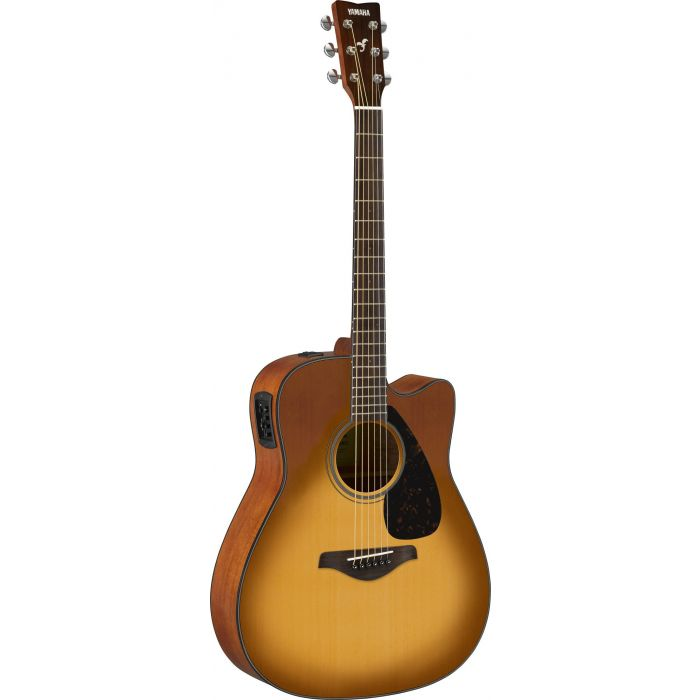 Full front view of a Yamaha FGX800C Acoustic in Sandburst