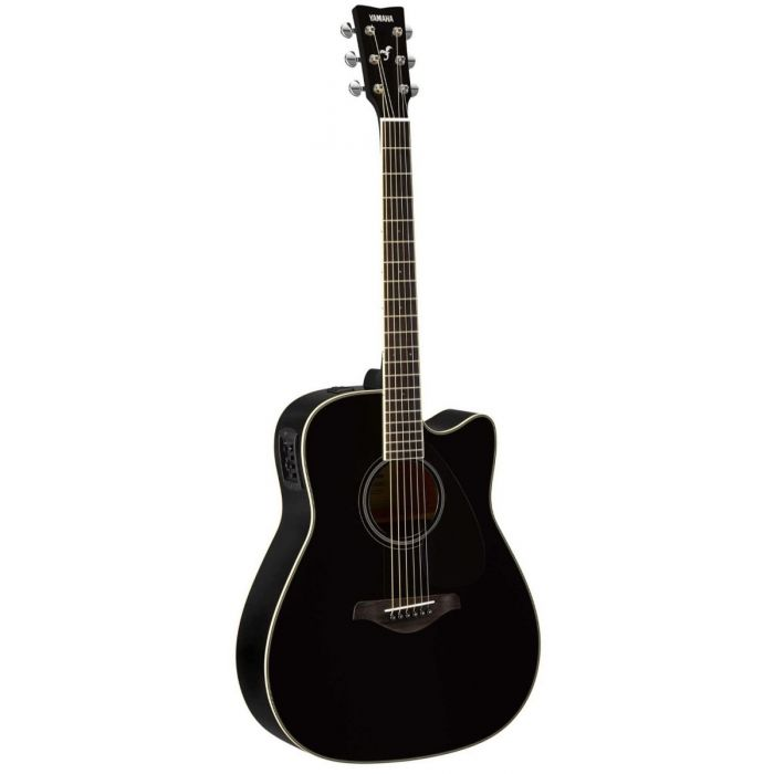 Full front view of a Yamaha FGX820C Acoustic in Black