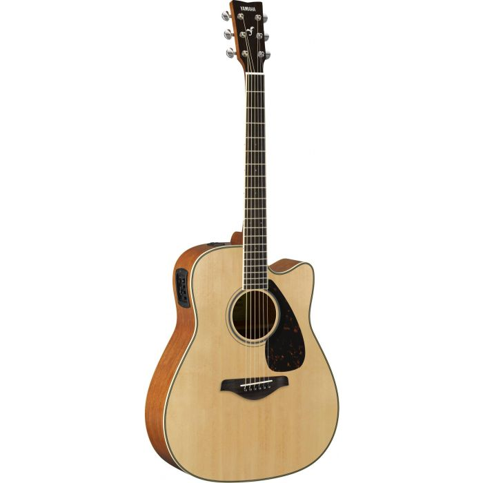 Full front view of a Yamaha FGX820C Acoustic in Natural