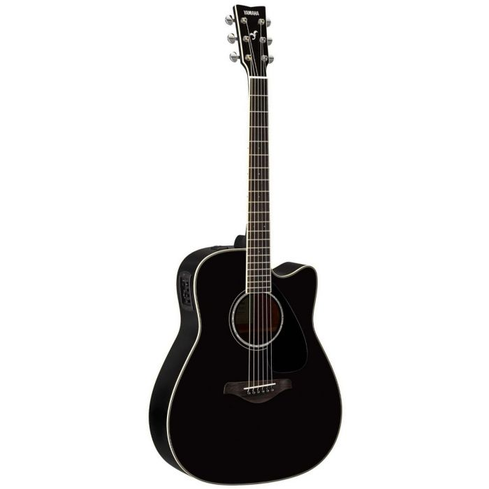 Full front view of a Yamaha FGX830C Electro-Acoustic Guitar Black