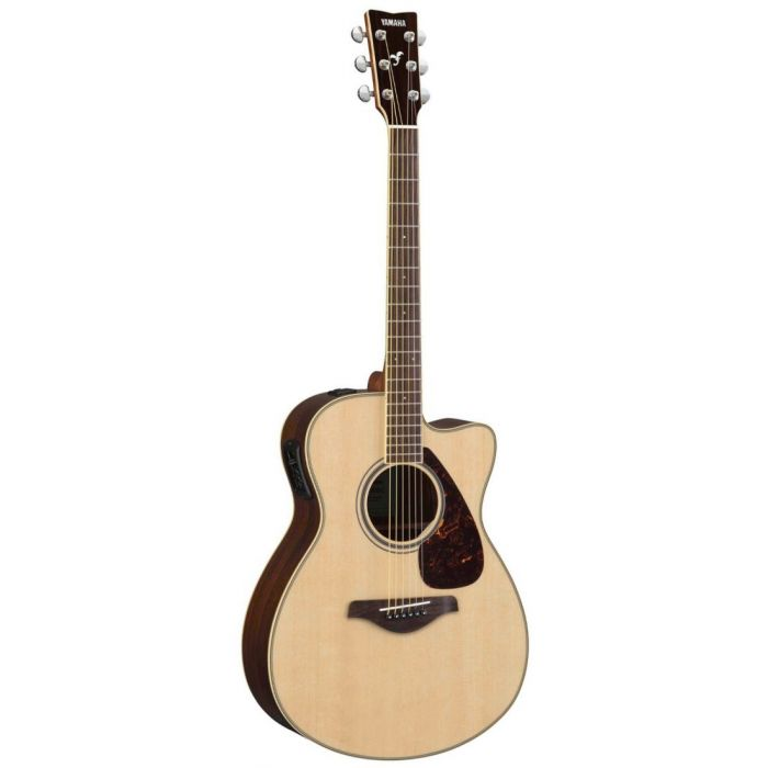 Full front view of a Yamaha FGX830C Acoustic in Natural