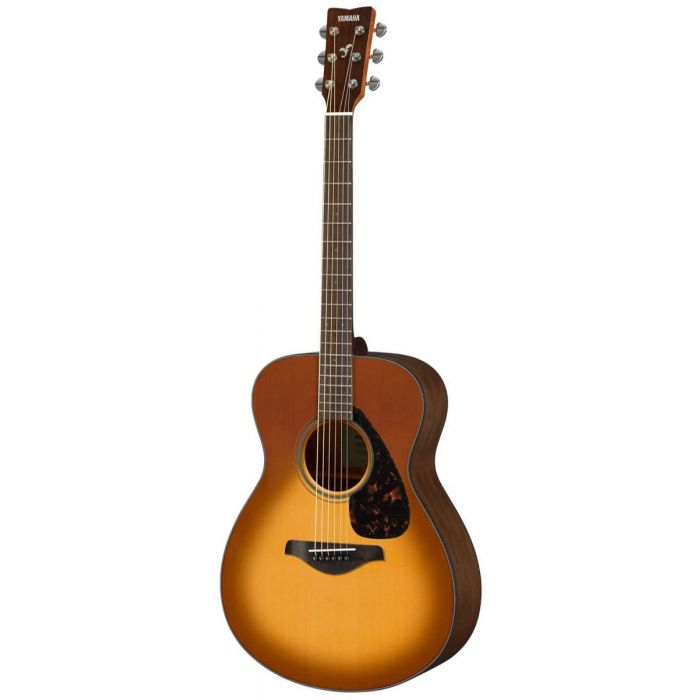 Full front view of a Yamaha FS800 Acoustic in Sandburst