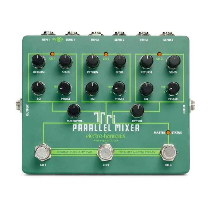 Full view of an Electro Harmonix Tri Parallel Mixer