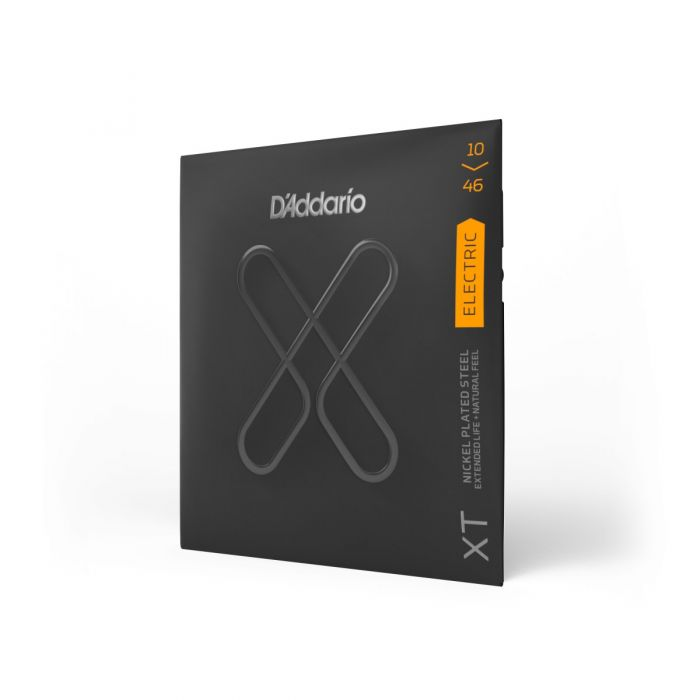 D'Addario XTE1046 XT Electric Strings Angled View