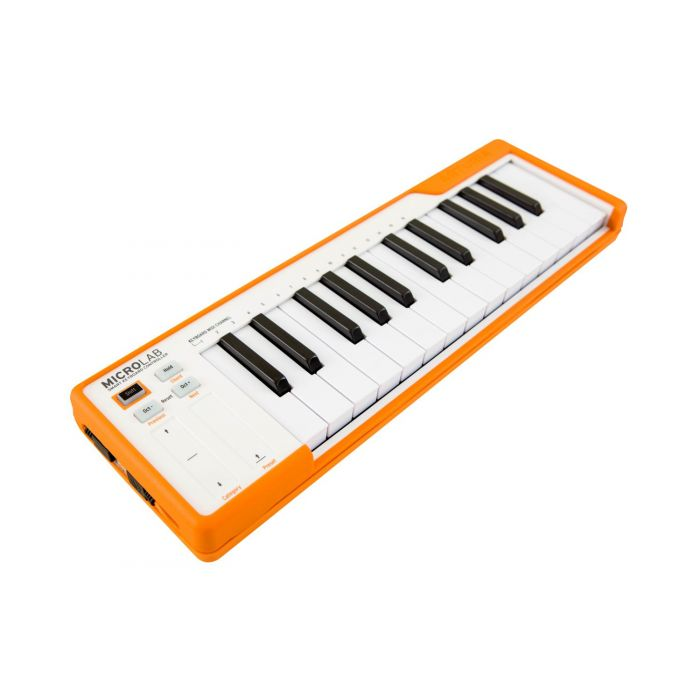 Angled Arturia MicroLab Orange USB MIDI Keyboard Controller