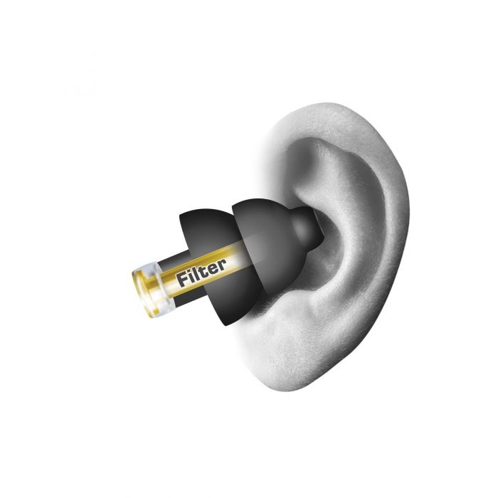 Alpine MusicSafe Pro Earplugs In Use