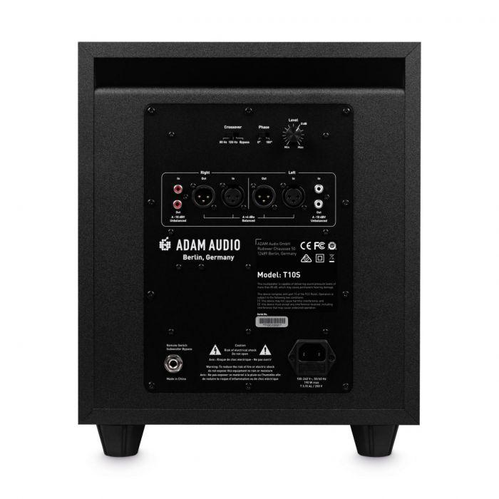 Rear Panel of Adam Audio Subwoofer