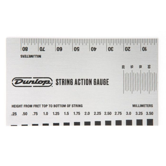 Full view of the Dunlop System 65 Action Gauge Metric Measurements side