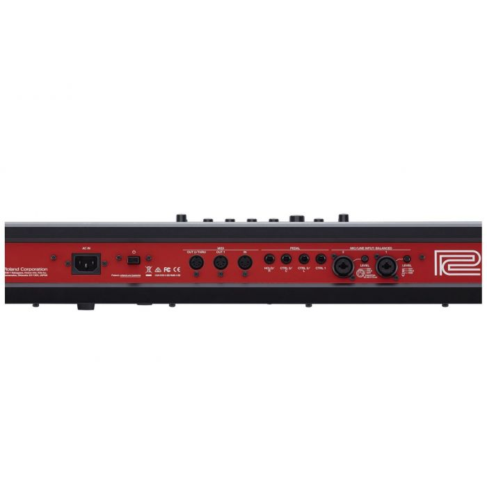 Roland Fantom Rear Panel including Audio Outputs and USB
