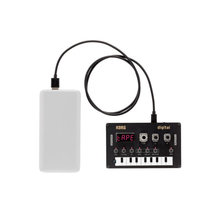 Korg NuTekt NTS-1 with Power Bank (power bank not included)