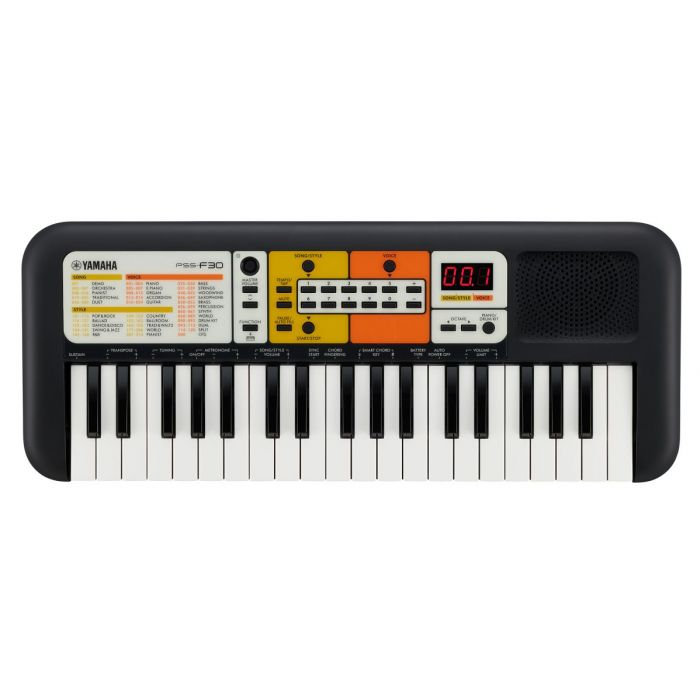 Top down view of a Yamaha PSS-F30 Portable Keyboard