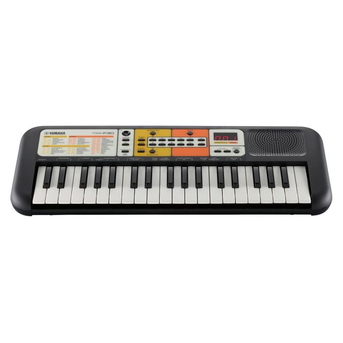 Front angled view of a Yamaha PSS-F30 Portable Keyboard