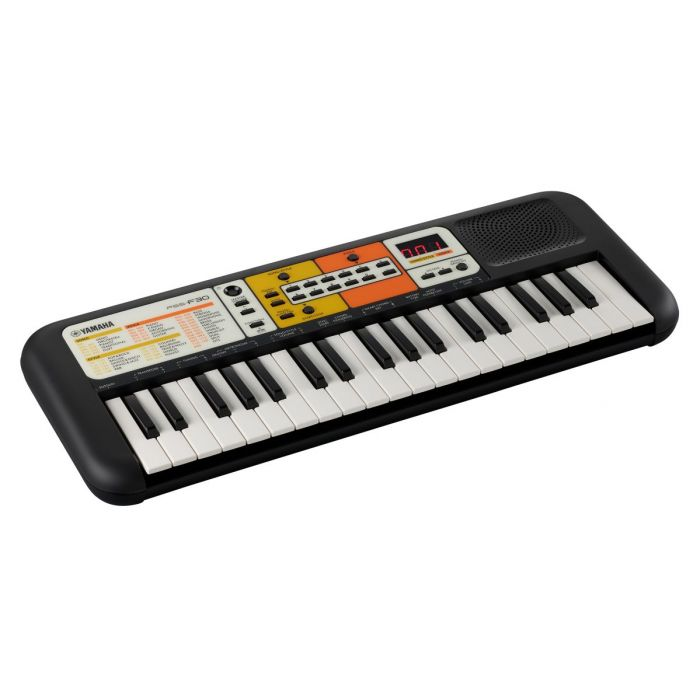 Front right angled view of a Yamaha PSS-F30 Portable Keyboard