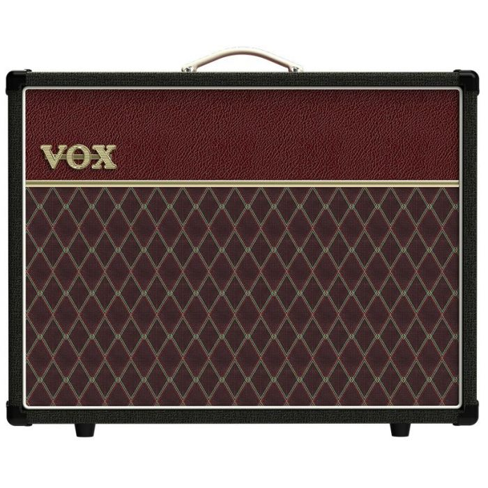 Full frontal view of a limited edition Vox AC30S1 30w 1x12 Combo Two Tone Black Maroon