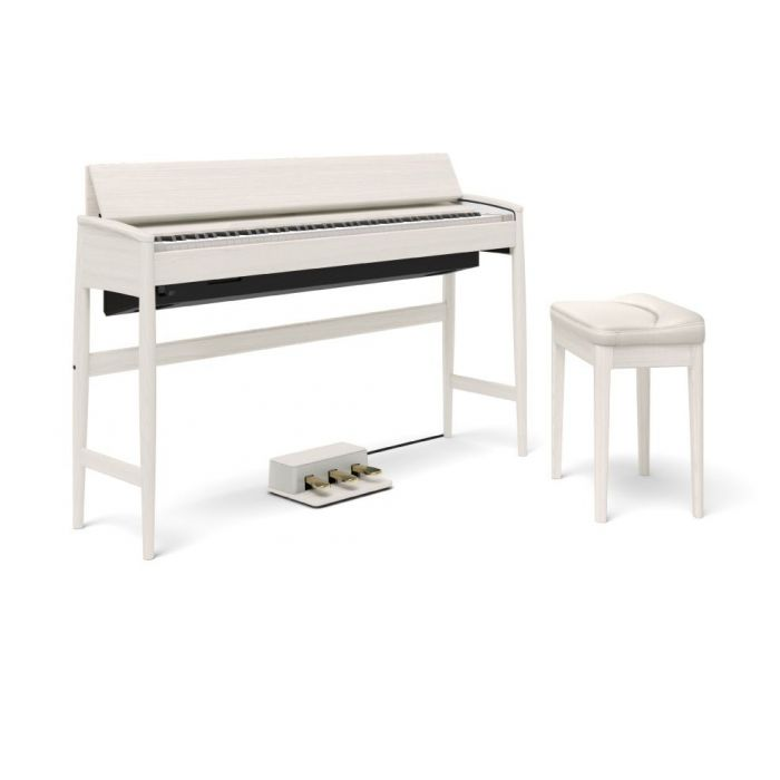 Roland Kiyola KF-10 Digital Piano with Stool Sheer White