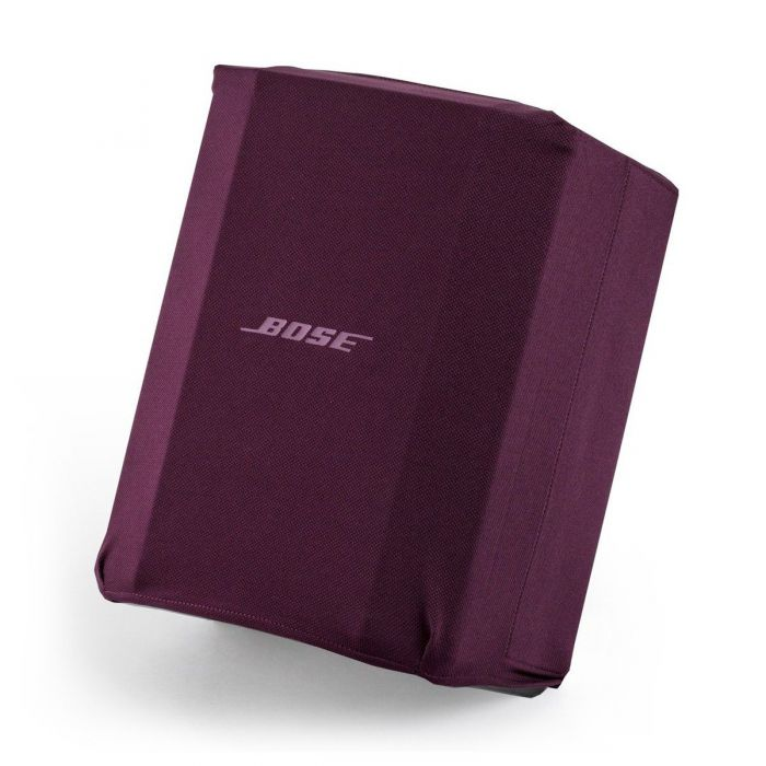 Angled View of Bose S1 Pro Play-Through Cover Night Orchid Red