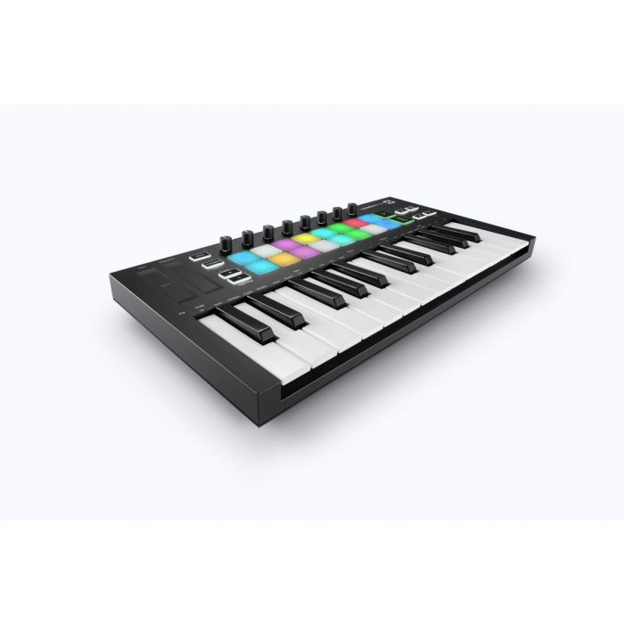 Front Left view of Novation Launchkey Mini MK3 Keyboard
