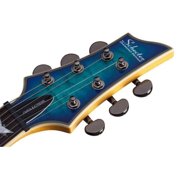 Schecter Omen Extreme-6 Electric Guitar, Ocean Blue Burst