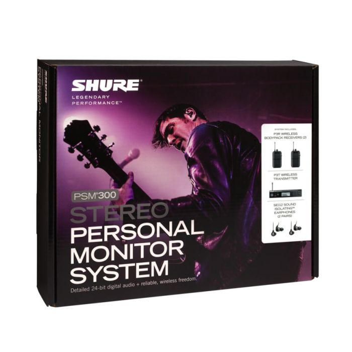 Shure PSM300 Twinpack Wireless Monitoring System Packaging