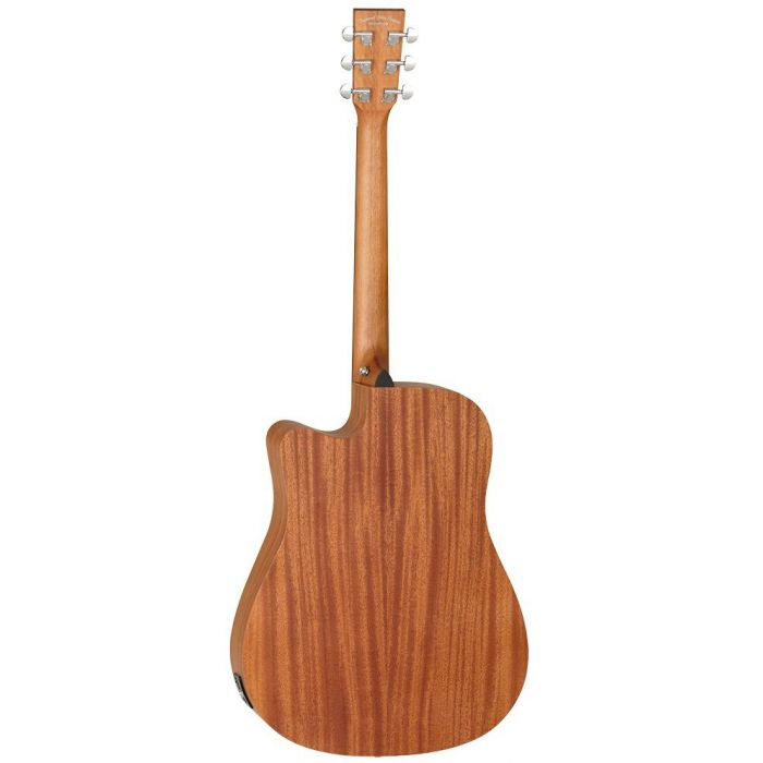 Full rear view of a Tanglewood TWR2 DCE Natural Satin Acoustic Guitar