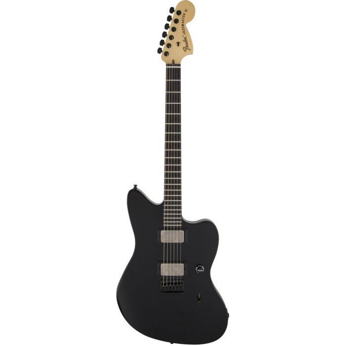 Full frontal view of a Fender Jim Root Jazzmaster Electric Guitar Flat Black