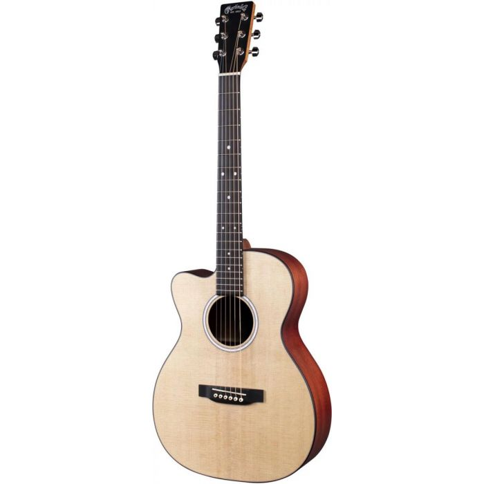 Full frontal view of a Martin 000CJr-10EL Left handed Electro Acoustic Guitar