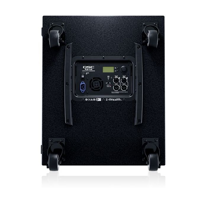 Rear panel view of a QSC KS118 Active Subwoofer