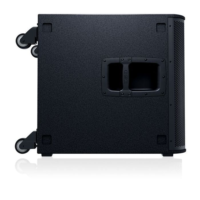 Side-on view of a QSC KS118 Active Subwoofer