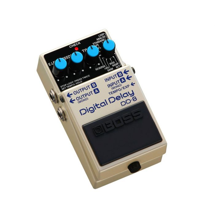 Front right angled view of a Boss DD-8 Digital Delay Pedal