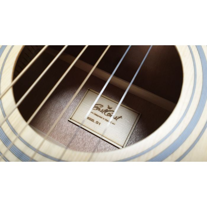 close up of acoustic guitar strings