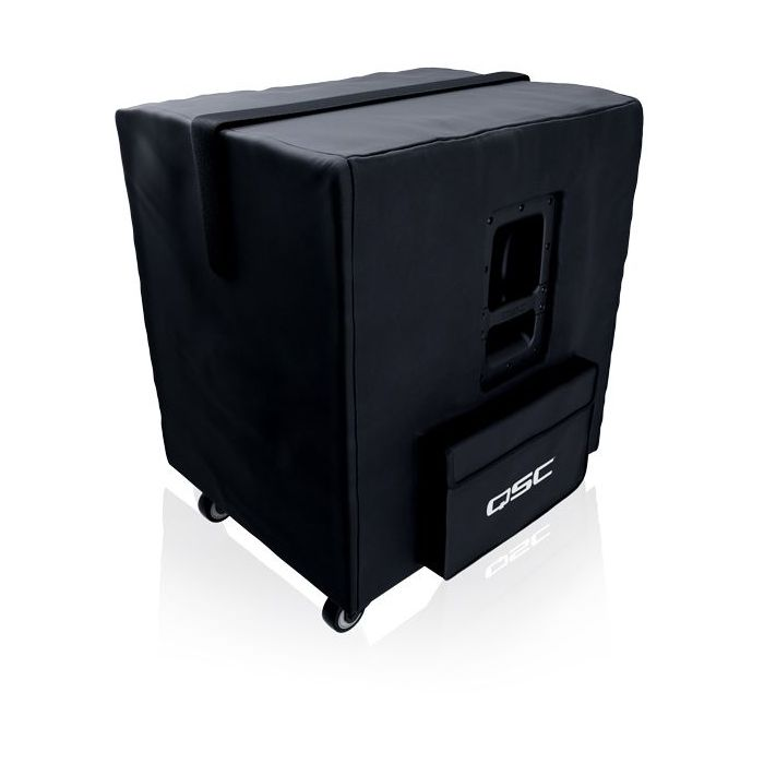 Full angled view of a QSC KS118 Subwoofer Cover