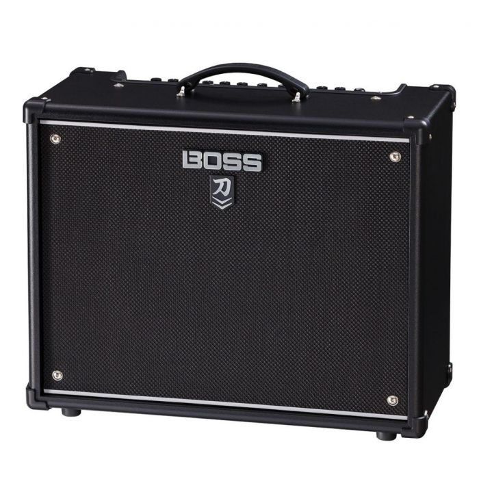 Front right angled view of a Boss Katana 100 MKII Guitar Amplifier