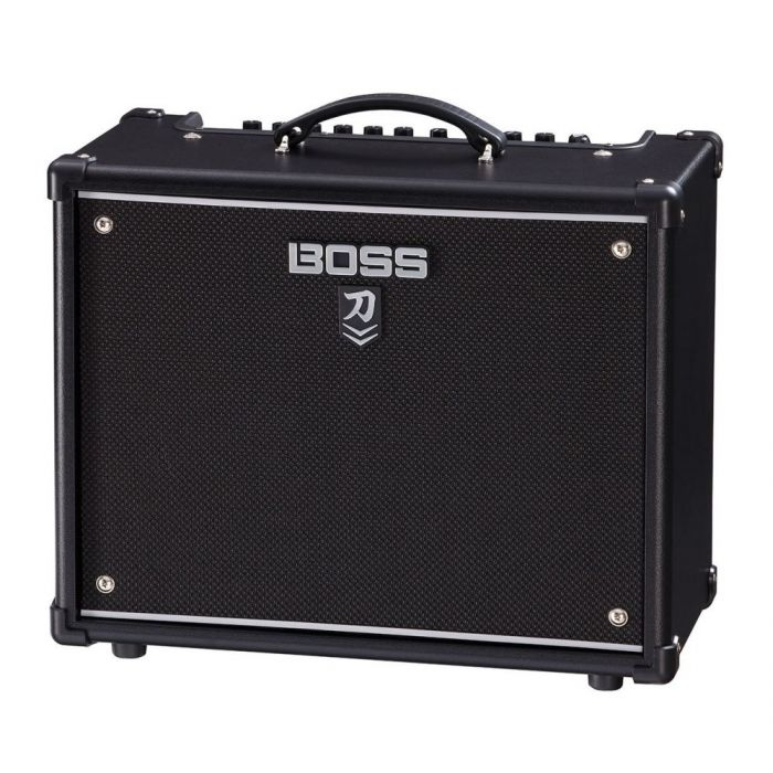 Front right angled view of a BOSS Katana 50 MKII Guitar Amplifier