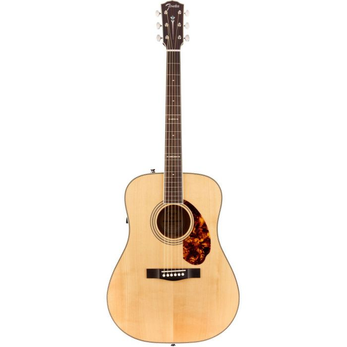Full frontal view of a Fender PM-1 Ltd Adirondack Dreadnought Electro Acoustic w Case