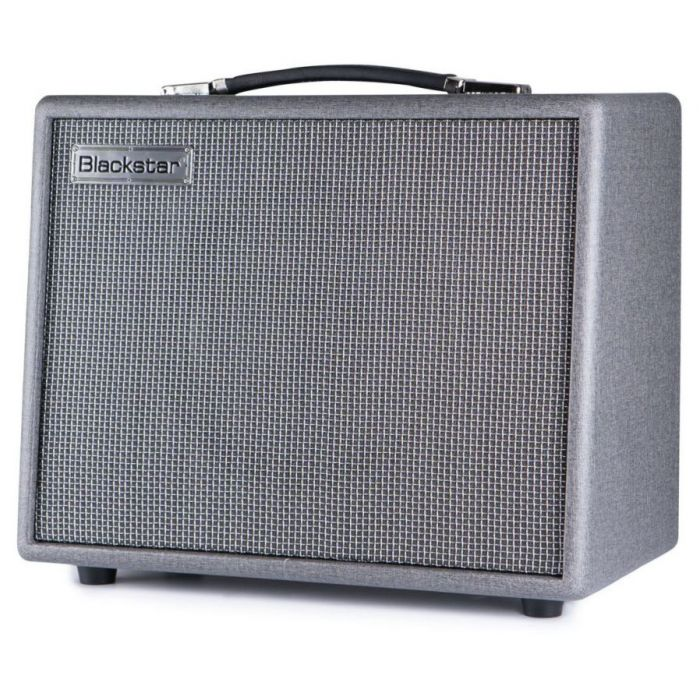 Front right-angled view of a Blackstar Silverline Standard 20 watt guitar Combo Amp