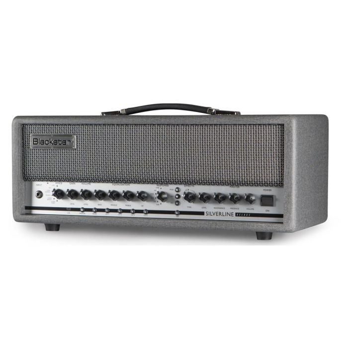 Front right-angled view of a Blackstar Silverline Deluxe Head 100 watt Guitar Amp