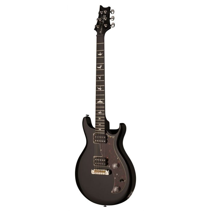 Front angled view of a PRS SE Mira Electric Guitar in Black