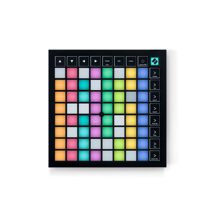 Top down view of a Novation Launchpad X USB MIDI Controller